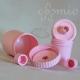 Tubustégely, rózsaszín