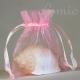 Organza zsákocska – egyszínű, kicsi – rózsaszín