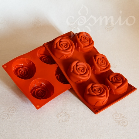 Szilikon-öntőforma, nagy rózsa