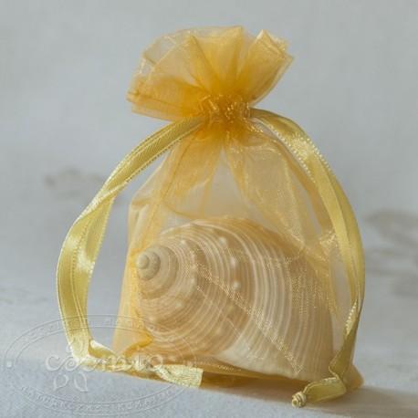 Organza zsákocskák - aranysárga