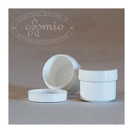Fehér műanyag tégely, 15 ml
