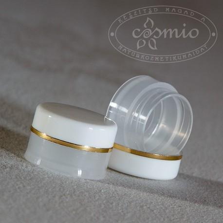 5 ml-es mini tégely arany csíkkal